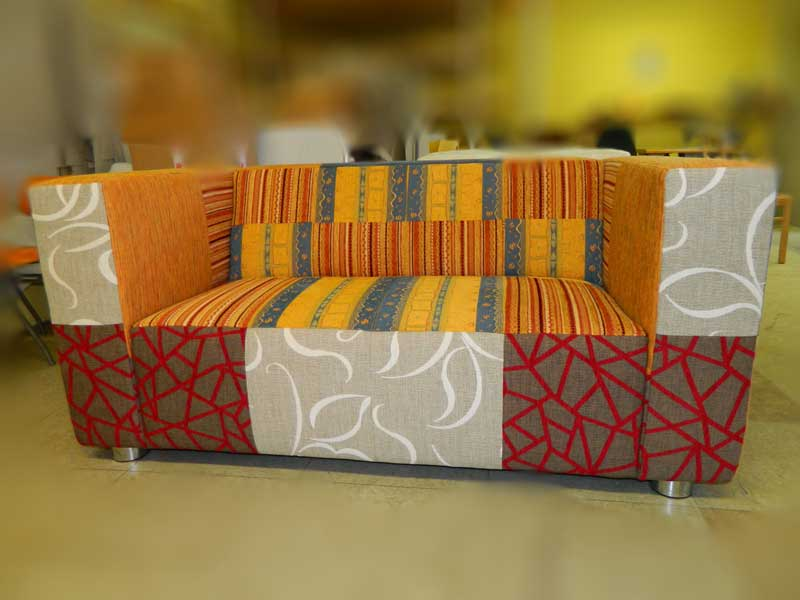 Wohninterior - Couch - eigene Kreation mit Patchwork Design
